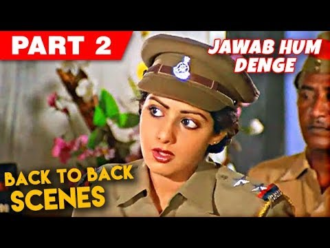 Sridevi Back To Back Scenes   Jawab Hum Denge   Jackie Shroff, Shatrughan Sinha   Part 2