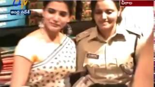 Actress Samantha Inaugurates a Shopping Mall in Chirala of Prakasam District