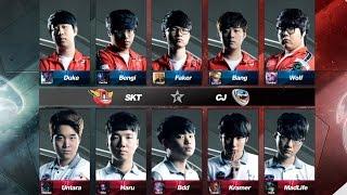 SKT vs CJ Game 1 Highlights - SK TELECOM T1 vs CJ ENTUS - LCK 2016 LOL Champions Korea Summer