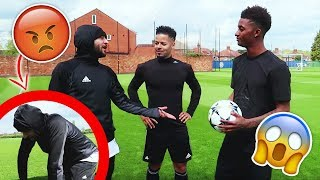 HILARIOUS F2 VS DEMARAI VS HAKS! *LEICESTER TRAINING GROUND!*