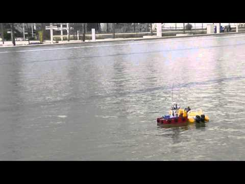 CVP The Rescue of a Rc RibBoat by my Springer Tug
