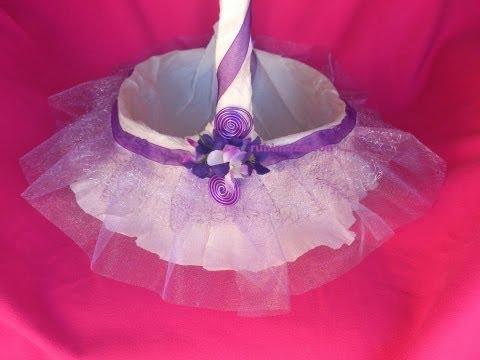 Como hacer cestas para celebraciones detalles de bodas comunión bautizos 15 años