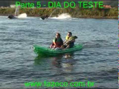Kaypet Caiaque de garrafas PET ecologico Kayak PET bottles barco