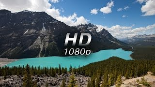 """""""Mountains of Majesty"""" (w Music) 1 HR  Nature Relaxation™ Banff & Alberta  1080p"""