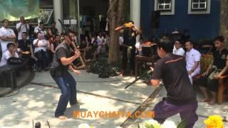 ประลองอาวุธ งานไหว้ครู มวยไทยไชยา และ อาวุธไทย 2559