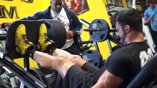 Sergi Constance VLOG 10 Crazy LEG Workout and lunch with Chris Cormier
