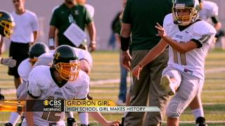 High school girl makes football history