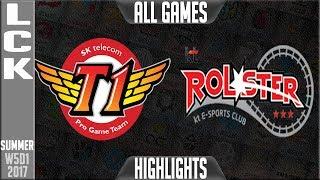 SKT T1 vs KT Rolster Highlights ALL GAMES | LCK week 5 summer 2017 | SKT vs KT Highlights