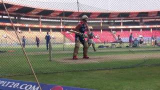 Big hitting by the RCB batsmen in the nets