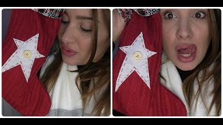 ASMR What's in my Christmas Stockings? tapping, crinkling, whispering