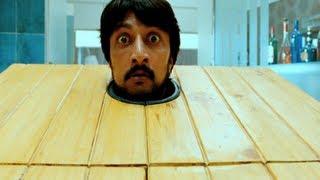 Eecha Movie Scenes w/subtitles- Eecha (Nani) troubling Sudeep - Samantha, Sudeep