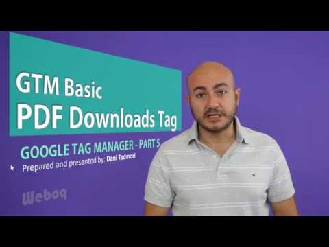 Track PDF Downloads using Google Tag Manager - GTM Part 5