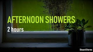 Heavy Afternoon Thunderstorm - 2 Hours Rain Sounds for Sleep, Study & Relaxation