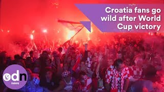 Croatia fans in Zagreb go crazy after World Cup victory