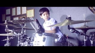 Humood - Kun Anta ( Drum cover version ) by Lexa apregio drummer cilik