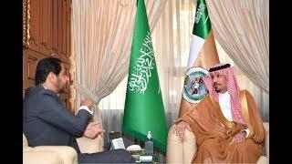 سمو الأمير خالد بن عبدالعزيز بن عياف وزير الحرس الوطني يستقبل سفير جيبوتي ضياء الدين بامخرمة