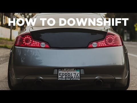 How to DOWNSHIFT, REV MATCH and HEEL TOE!