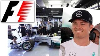 Weltmeister Rosberg in der Mercedes Garage 2017