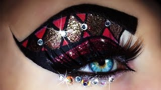 Carnival - Mardi Gras Makeup Tutorial (trucco Carnevale) 4k OLED