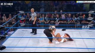 wwe woman wrestler did something nasty( getting naked) to win the match