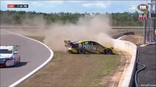 V8 Supercars Darwin 2016 All Crashes and Fails