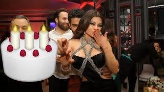 بالصور احتفال هيفاء وهبي بعيد ميلادها في بيروت طلالتان مختلفتان ورقص وقبلات