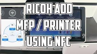 Ricoh Connector app Add MFP using NFC