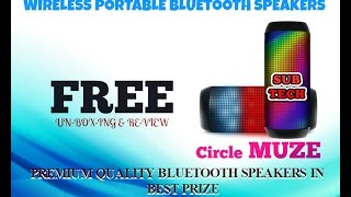 !!!Free for You!!!! unboxing & review Circle MUZE Portable Bluetooth Speaker