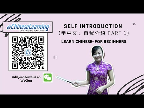 Beginner Chinese Self Introduction Part 1