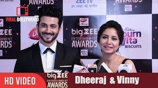 Dheeraj Dhoopar with Wife Vinny Arora at Big Zee Entertainment Awards 2017 | #BigZeeAwards