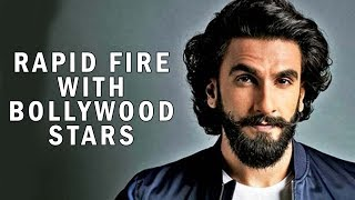 Ranveer's First Time Was By Fluke | Rapid Fire With Other Bollywood Stars