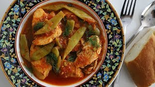 Green Beans Chicken Dinner Dish Recipe - Heghineh Cooking Show