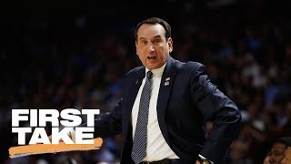 Stephen A. Smith Agrees With Coach K On Updating NCAA Basketball Rules | First Take | June 21, 2017