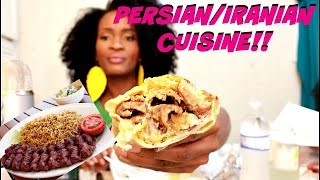 ASMR/MUKBANG: TRYING PERSIAN/IRANIAN FOOD!!! EAT WITH ME! YUMMYBITESTV