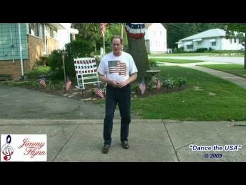 watch How To Dance the USA patriotic line dance by Jimmy Flynn 2 avi