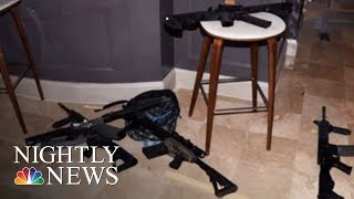 Surveillance Video Shows Vegas Gunman Methodically Bringing Suitcases Of Weapons | NBC Nightly News