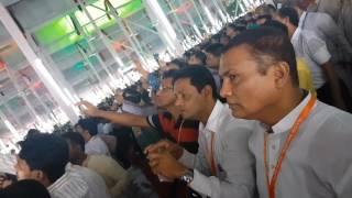 জয় বাংলা ...জয়ধ্বনিতে উদ্বোধন আওয়ামী লীগের ২০ তম জাতীয় সম্মেলনে সোহরাওয়ার্দী উদ্যানে