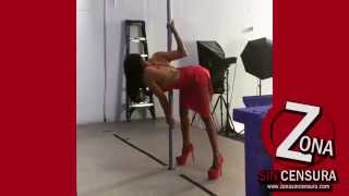 Anya Ivy dancing in red dress