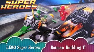 Build 1 LEGO DC Super Heroes Batman Riddler Chase With The Flash Batmobile 3 Minifigs Building Toy