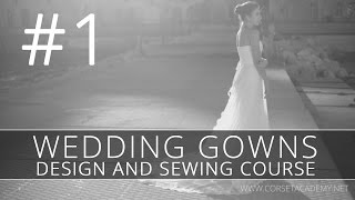 How to make a WEDDING DRESS? Sewing and design of bridal gown