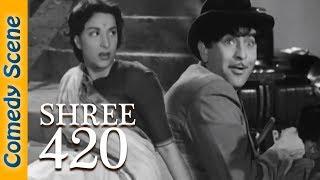 Most Viewed Comedy Scenes - Shree 420 Movie - Raj Kapoor - Nargis - Nadira