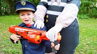 Halloween Scary Baby spooks Sketchy Mechanic featuring the Assistant silly funny kids video