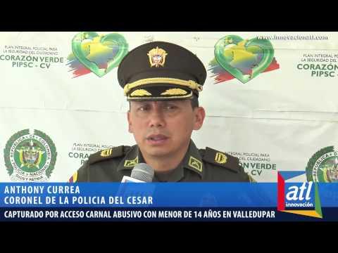 Capturado por Acceso Carnal Abusivo con menor de 14 años en Valledupar PoliciaColombia