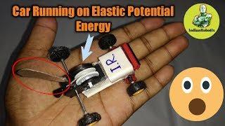 Mini Car making using Elastic potential energy stored in Spring || IndianRobotix