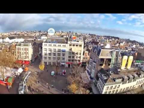 Amazing Video Drones over Amsterdam. Fanstastic views over Canals Parks Museums