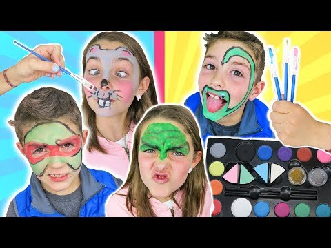 Xxx Mp4 Brother VS Sister FACE PAINT CHALLENGE Round 2 Animal And Superhero Face Paint For Kids 3gp Sex