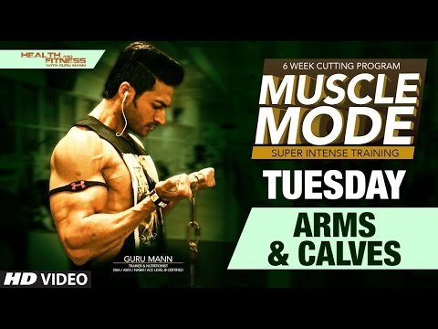 TUESDAY - Arms and Calves | MUSCLE MODE by Guru Mann | Health & Fitness
