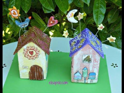 DIY Birds House Crafts Casita de Pájaros Cómo hacer una Casita de Pájaros.