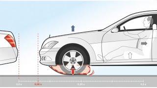 وسائد هوائية أسفل سيارة مرسيدس لتقوية الفرامل فى الحالات الطارئة