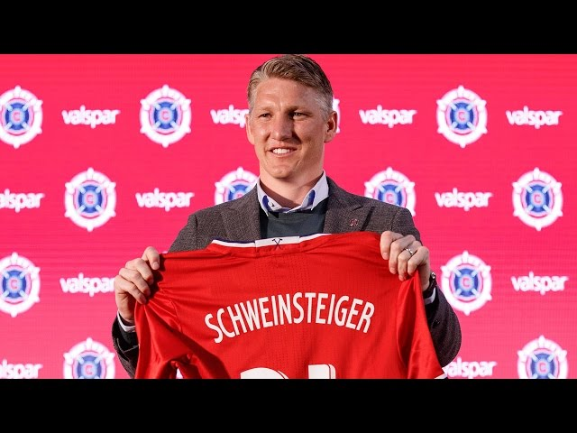 World Cup Winner Bastian Schweinsteiger arrives in Chicago